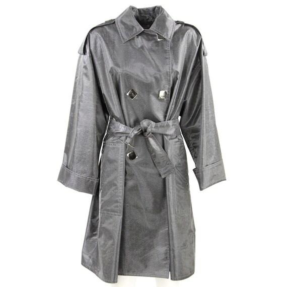 Paco Rabanne 80s silver raincoat