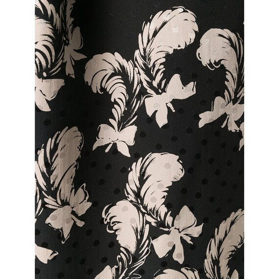 Yves Saint Laurent 70s feathers print skirt suit - image 5