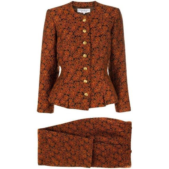 Yves Saint Laurent 80s jacquard trousers suit