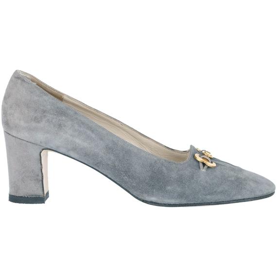 Ferragamo 70s suede grey shoes