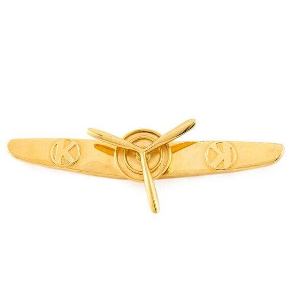 Krizia propeller 70s brooch
