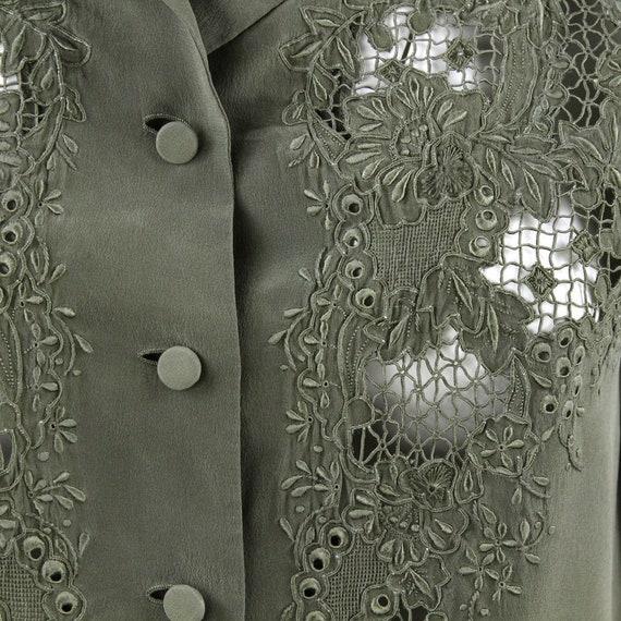 Green Silk Shirt - image 4