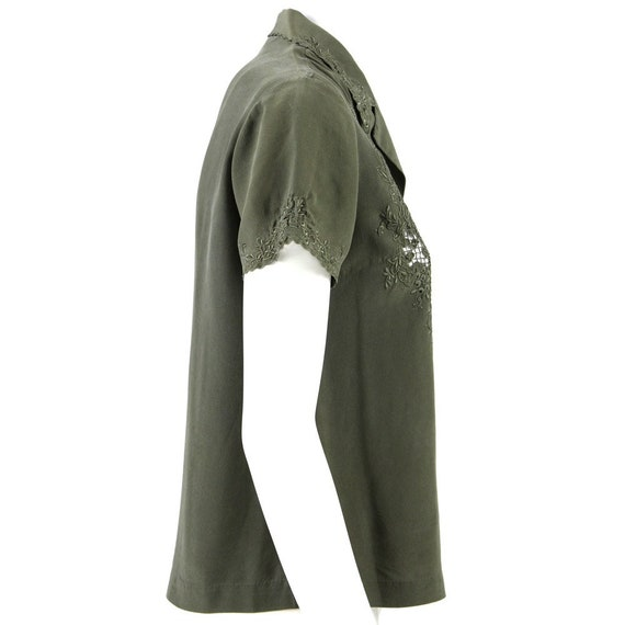 Green Silk Shirt - image 2