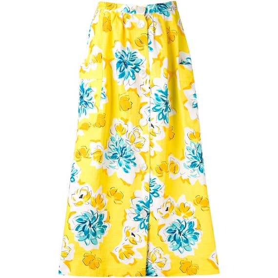 Céline 70s yellow printed skirt