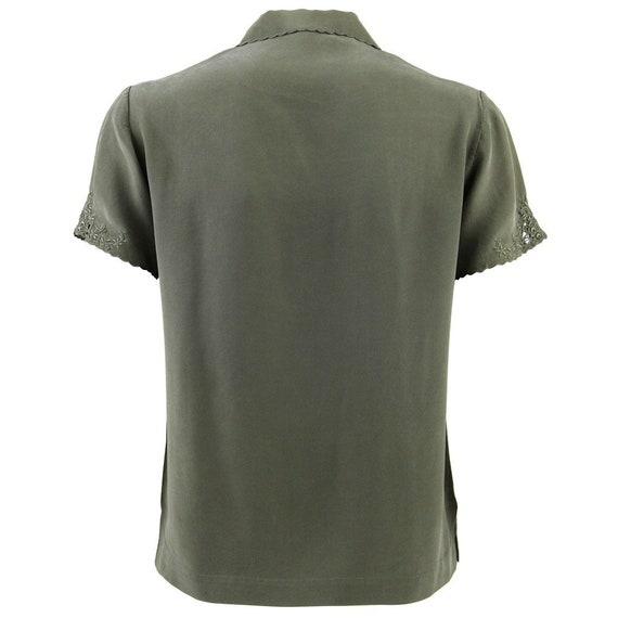 Green Silk Shirt - image 3