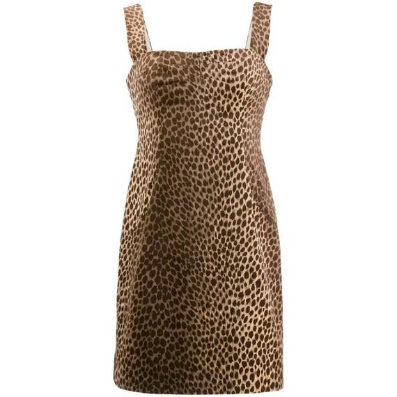 Dolce&Gabbana 90s animalier leopard print dress