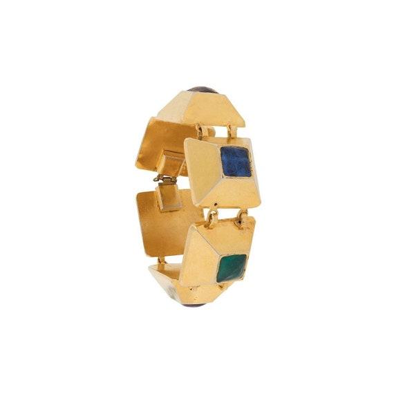 75s-85s Chanel gripoix gems bracelet