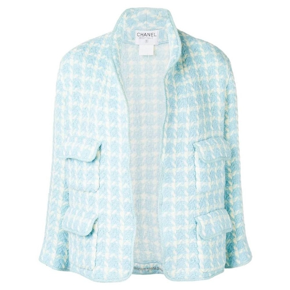 Chanel 90s checked jacket