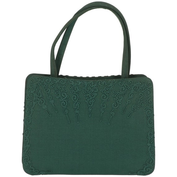 50s green small handbag