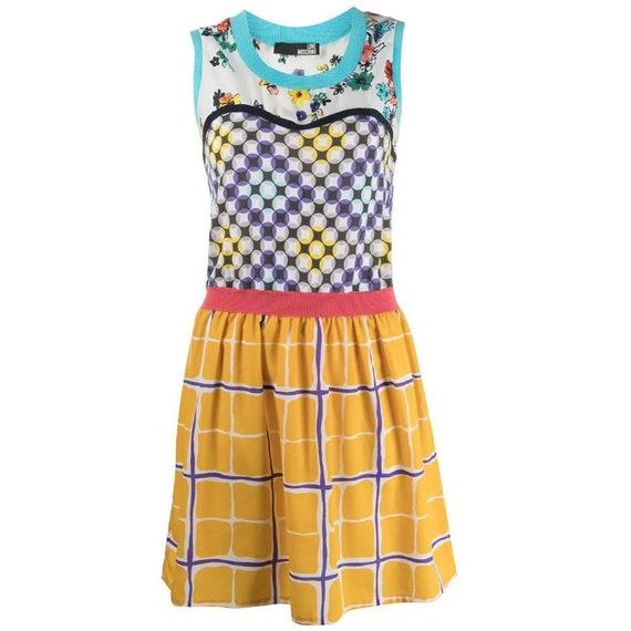 Moschino 90s multicolor short dress