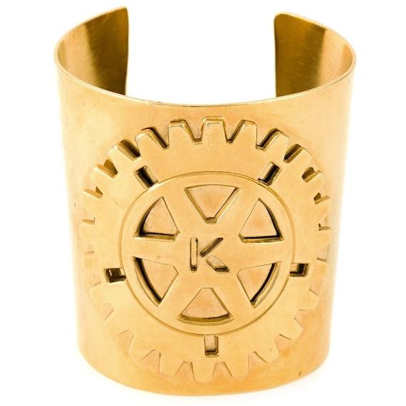 Krizia 80s metallic cuff