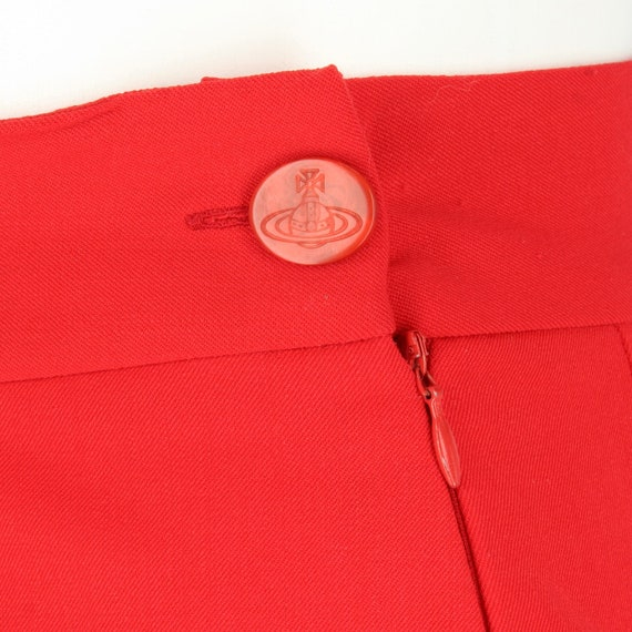 Vivienne Westwood 90s red mini skirt - image 4