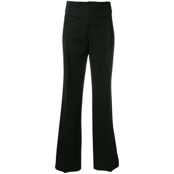 Gucci 90s black flared trousers