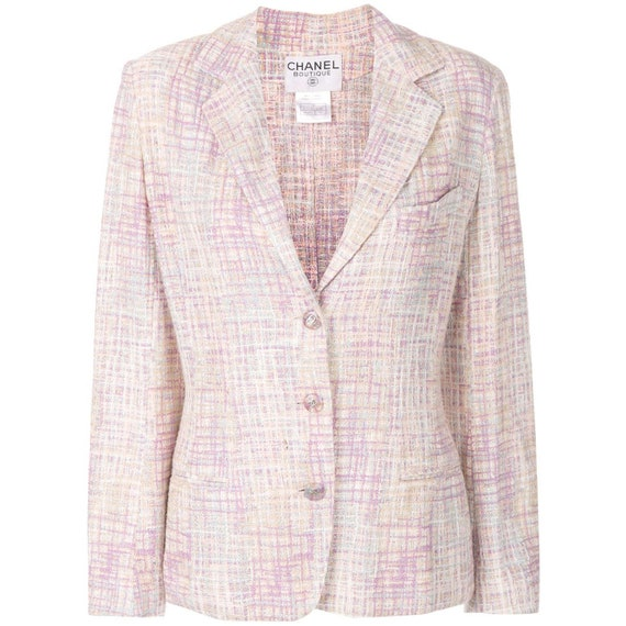 Chanel fancy pink and lilac 90s jacket