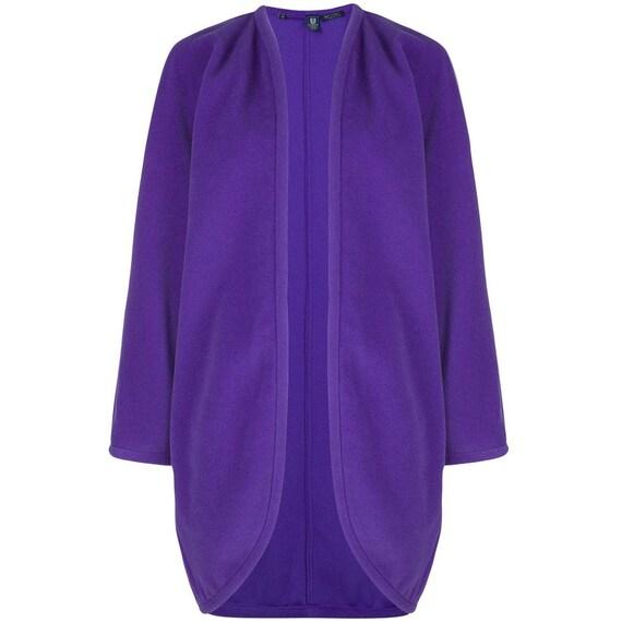 Emanuel Ungaro 80s purple cardigan