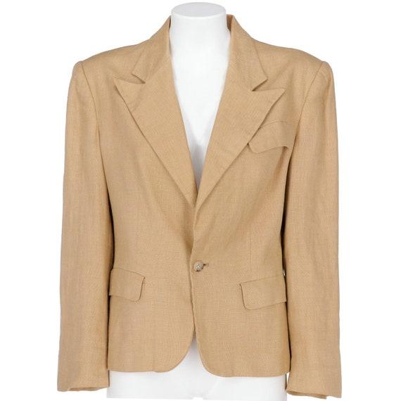Ralph Lauren 90s beige linen jacket
