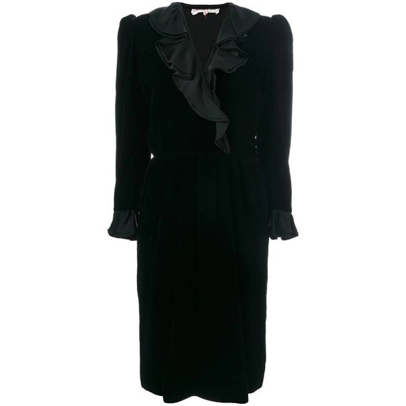 70s Yves Saint Laurent ruffle dress