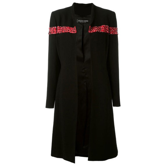 Scherrer 80s coat with sequins and beads