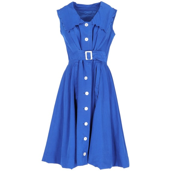 Blue cotton 50s dress