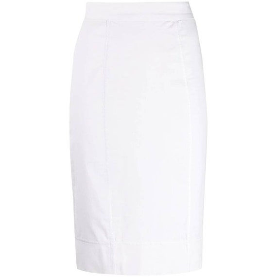 Dolce&Gabbana 90s white pencil skirt