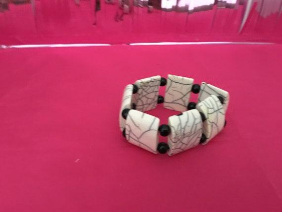 Ivory bracelet and ring set