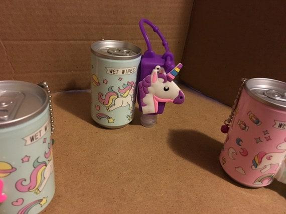 Unicorn hand sanitizer holder and wet wipes