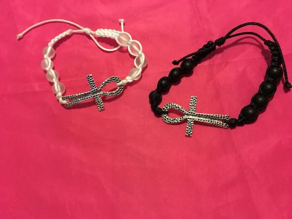 Child's Ankh Beaded Bracelet