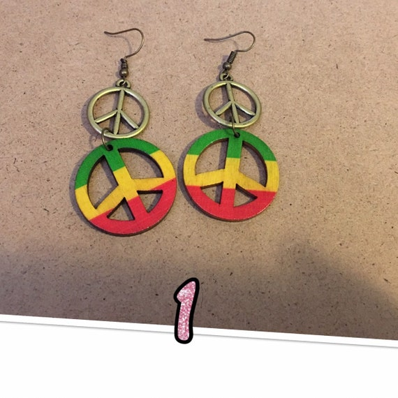 Red  Green and Yellow Earrings