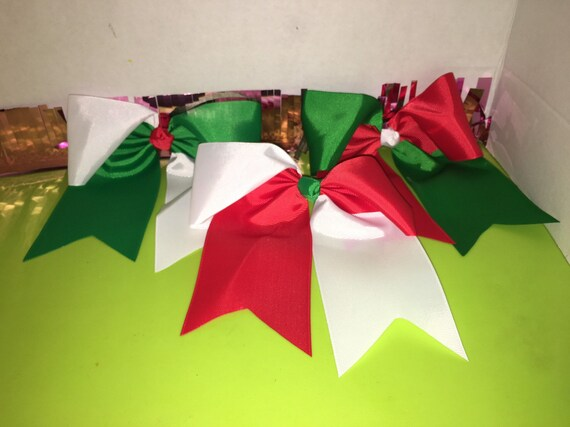 Christmas grosgrain bow with alligator clip with a pair of red earrings(limited time sale)