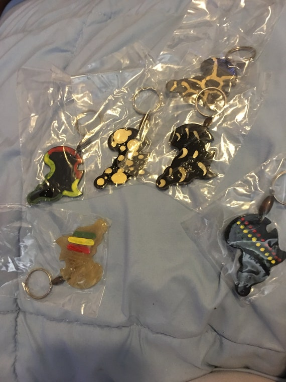 African inspired keychains