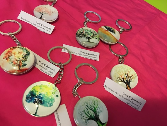 Tree of life key chain