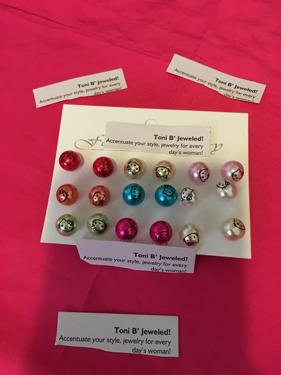 Hello Kitty inspired Pearl Studs