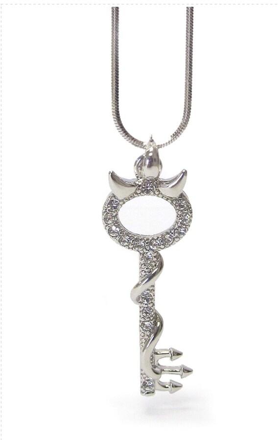 Crystal studded Cuttie devil key