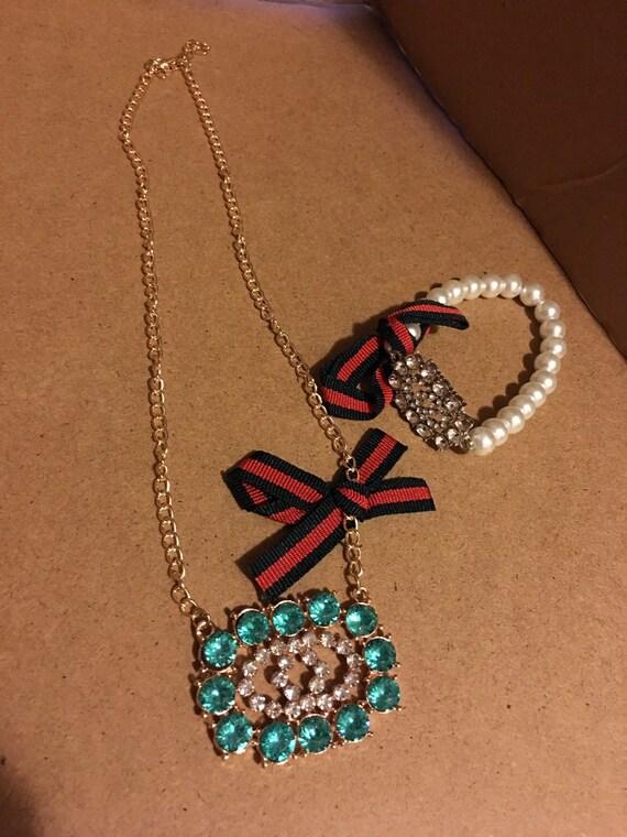 Necklace with bracelet set