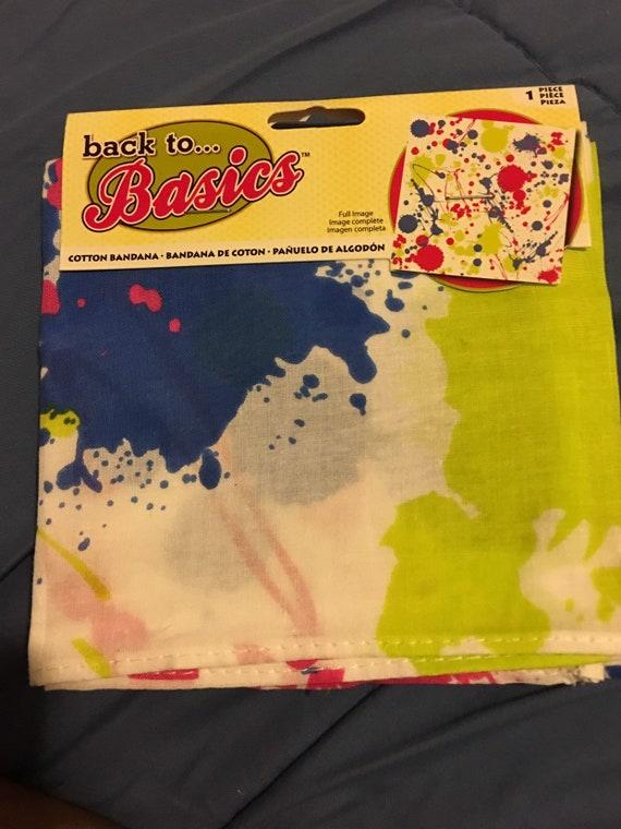 Bundle of 3 Neon splatter cotton bandana