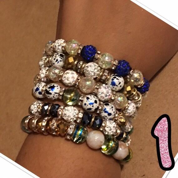 Natural stone beaded bracelet