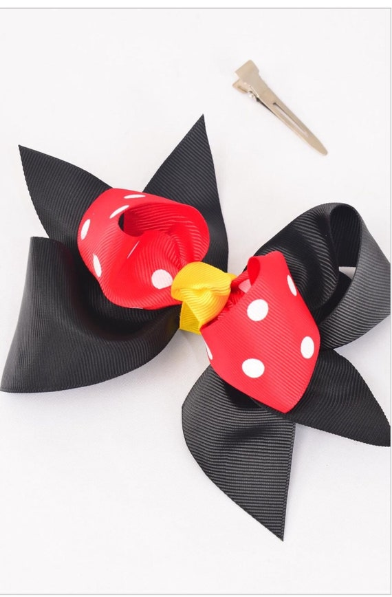 Mickey Mouse inspired bow hair clip