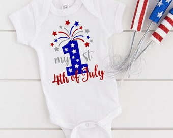 Red White and Cool 4th of July One Piece Bodysuit4th of July BodysuitUSA One PieceUSA Bodysuit4th of July One PieceFourth of July Baby