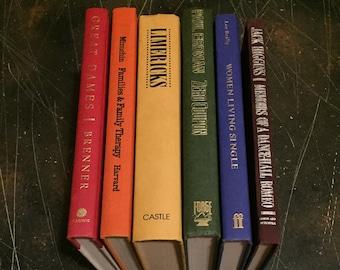 Rainbow book stack, vintage book rainbow
