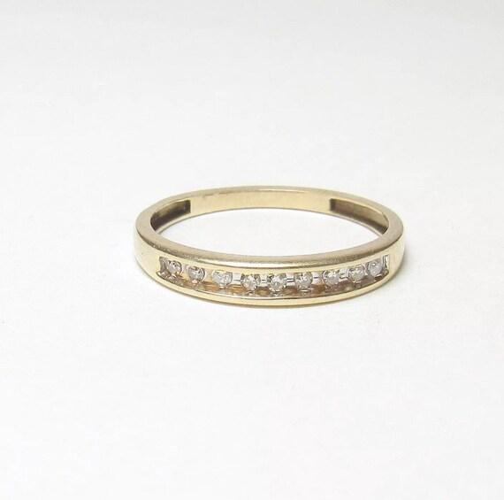 Vintage 10k Channel Diamond Ring