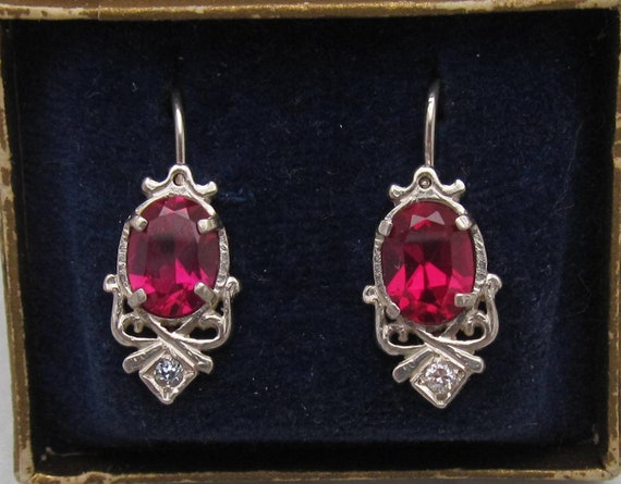 Sterling Silver Earrings - Art Nouveau