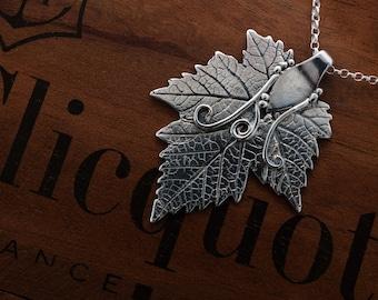 Silver Vine Leaf