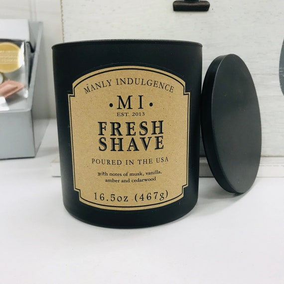 Manly Indulgence Candle Fresh Shave 16.5 oz   Etsy