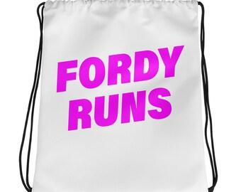 FORDY RUNS Running Drawstring bag - Pink
