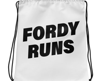 FORDY RUNS Running Drawstring bag - Black