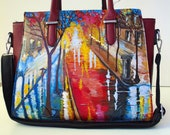 Women 39 s Gift Hand Painted Artificial Leather Shoulder Bag Colourful Crossbody Gift For Mum Gift For Me Gift for Her Ladies Purse Crossbody