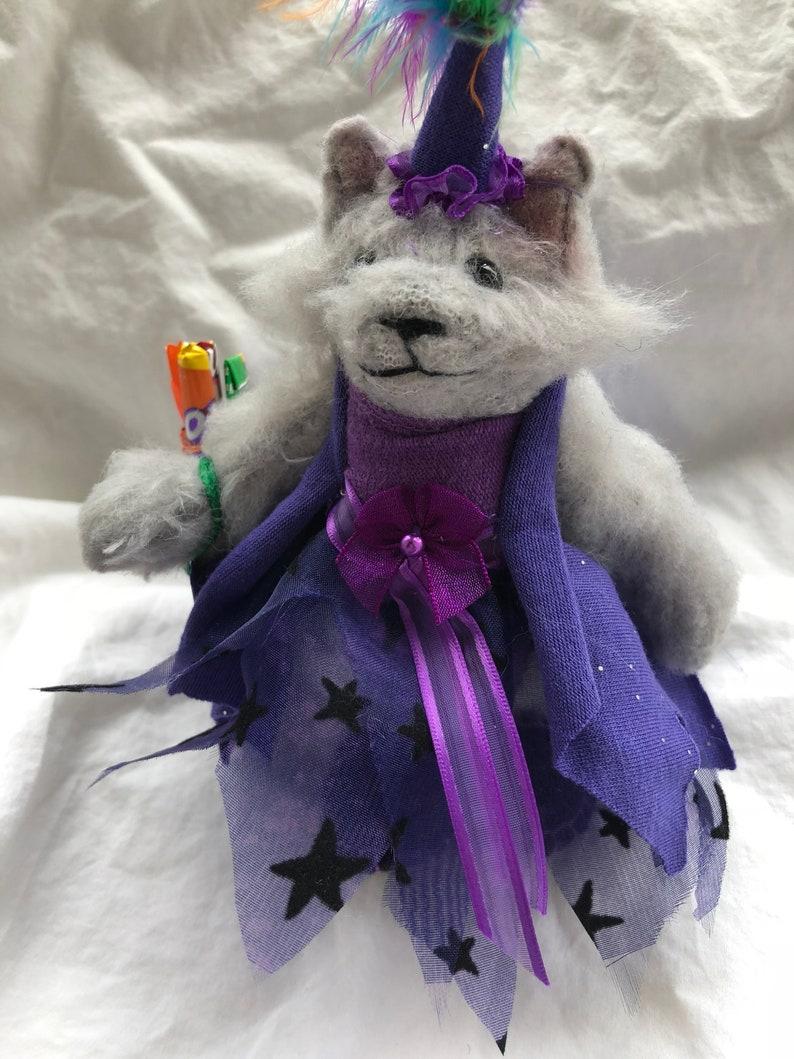 OOAK Stuffed Halloween Purple Princess Cat