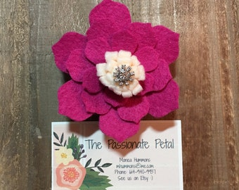 Fusia Flower with Vintage Center