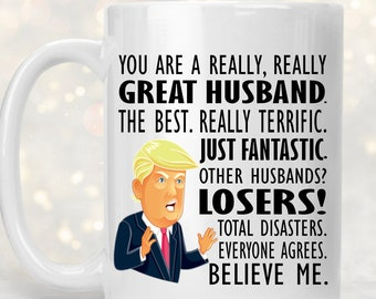 Husband Mug Trump Gag Gifts Funny Birthday Gift MAGA Coffee For Men Donald Pro