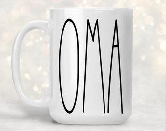OMA Mug, Gift for Grandmother OMA, Mug for Oma, Best Oma Mugs, Mother's Day Gift